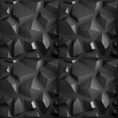 KASETON SUFITOWY ŚCIENNY MARS CZARNY 3D