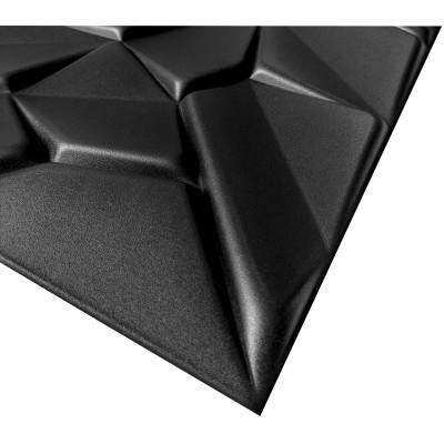 KASETON SUFITOWY ŚCIENNY MARKURY CZARNY 3D