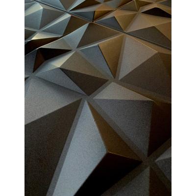 KASETON SUFITOWY ŚCIENNY DIAMENT CZARNY 3D